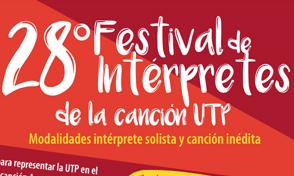 28º Festival de intérpretes de la canción UTP