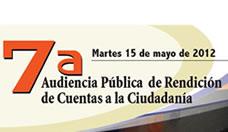 Invitación 7ª Audiencia Pública de Rendición de Cuentas a la Ciudadanía