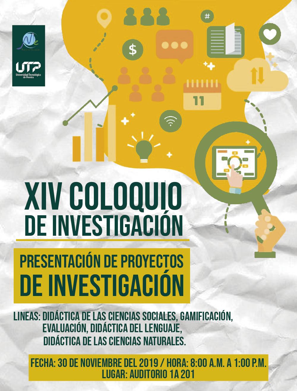 Invitación XIV Coloquio programa Maestría en Educación