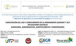 Capacitación del uso y conocimiento de la herramienta Agronet y sus aplicaciones digitales: Agroclima, Agronegocios, Agroteconecta y Agroinsumos