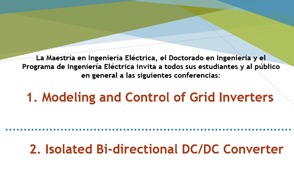 Ciclo de conferencias de Ingeniería Eléctrica