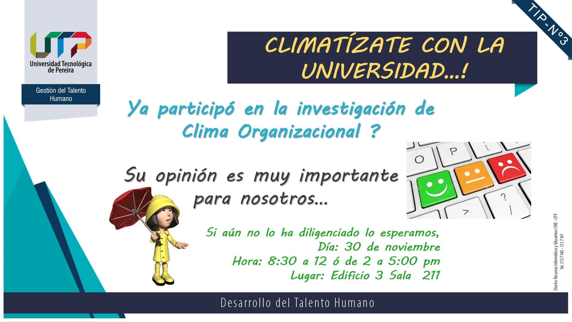 Climatízate con la Universidad – ¡Participa!