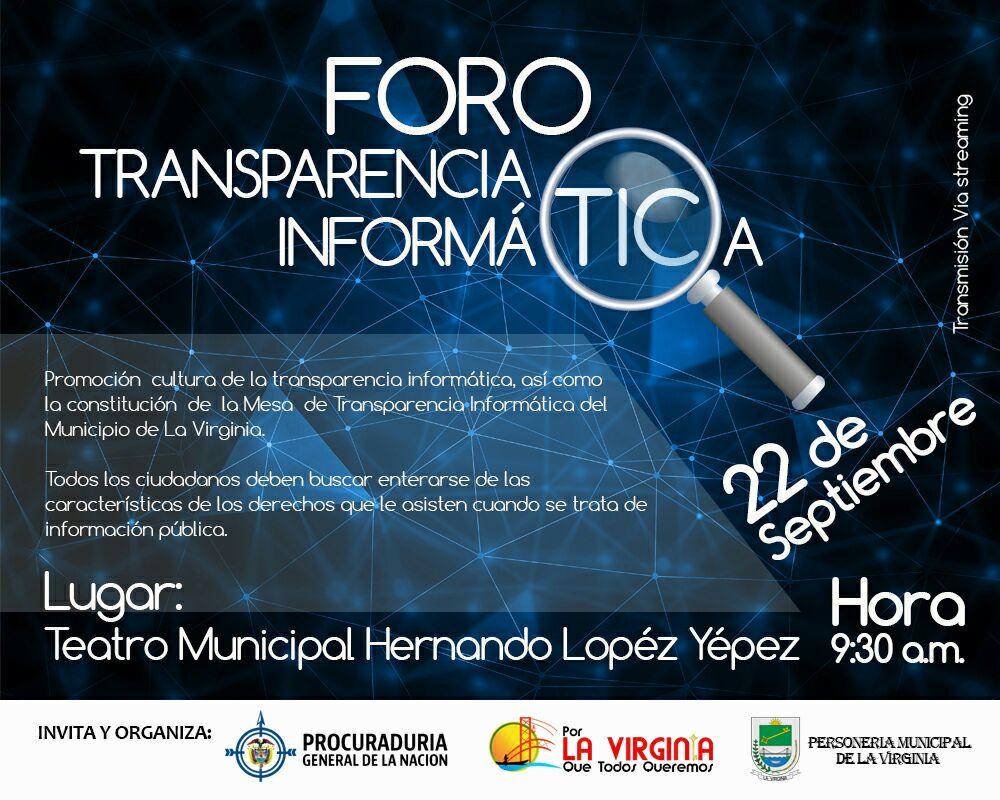 Foro Transparencia Informatica