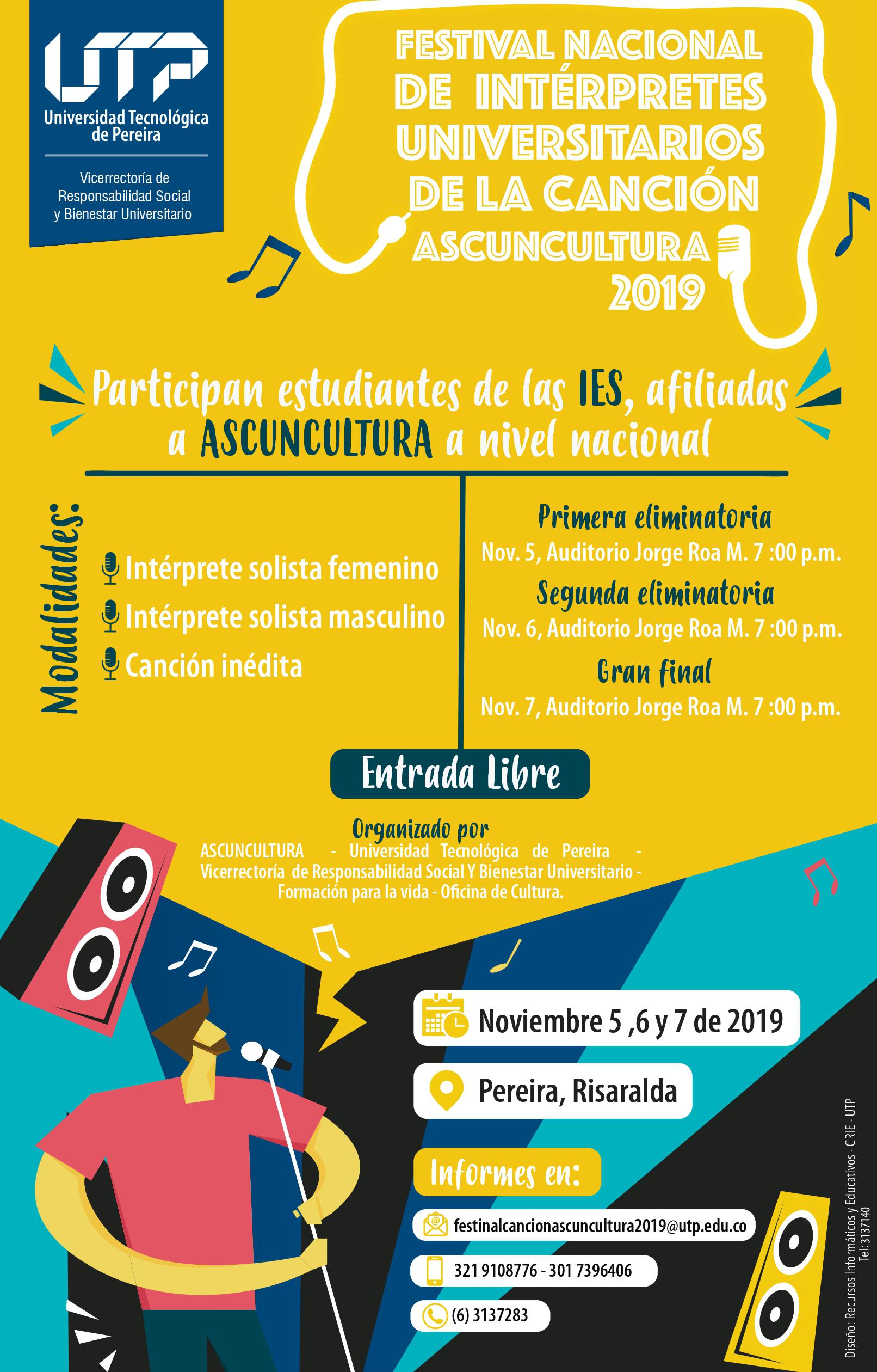 Festival Nacional de la Canción ASCUNCULTURA 2019