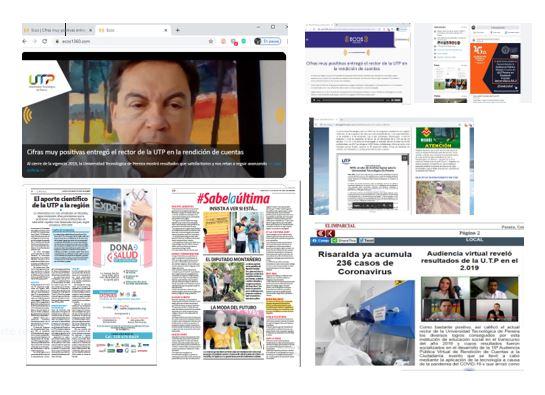 Medios locales destacan lnforme de Gestión 2019 de la UTP
