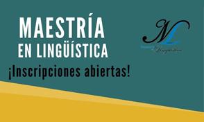 Inscripciones abiertas Maestría en Lingüística