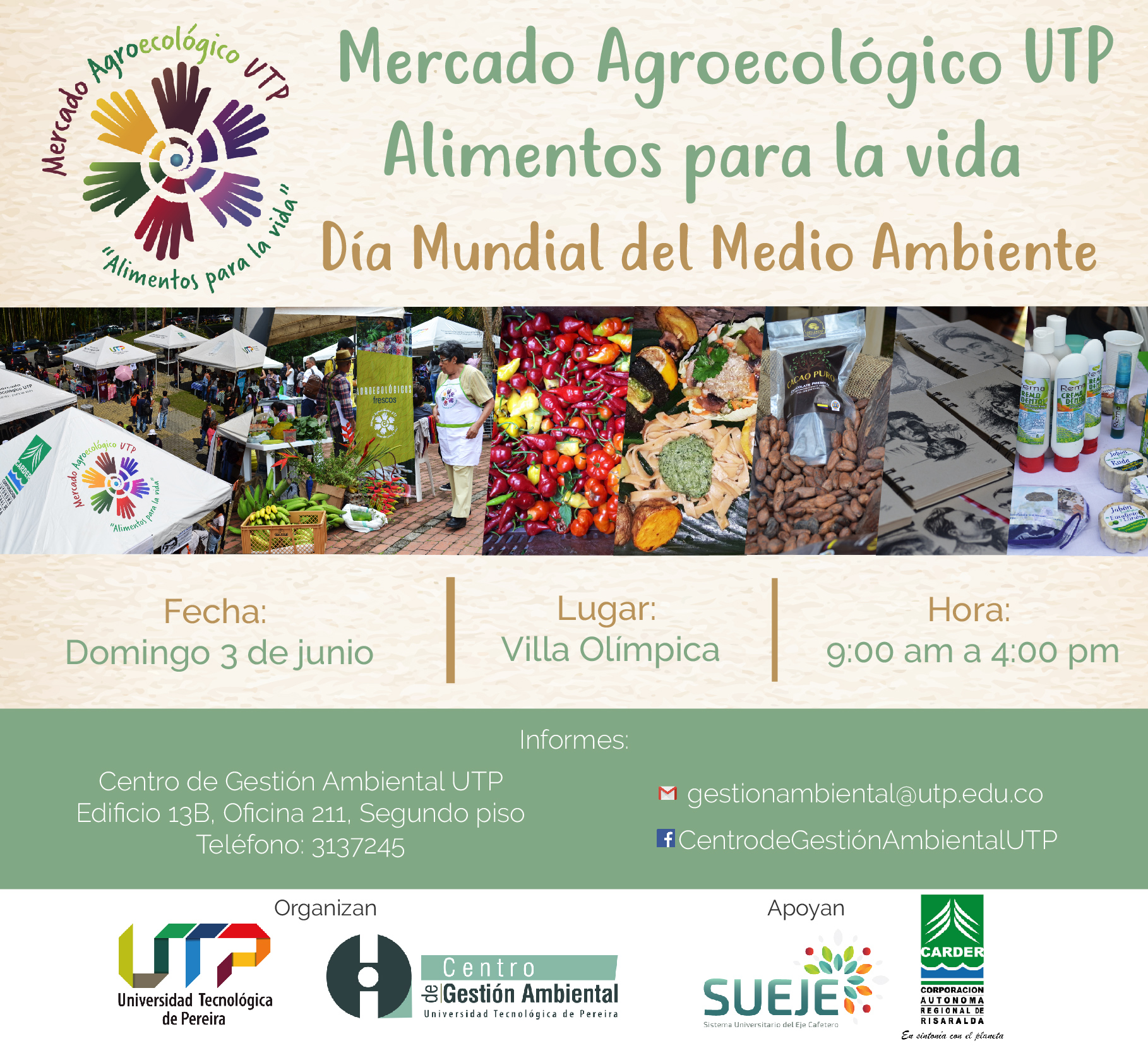 """Mercado Agroecológico UTP """"Alimentos para la Vida"""""""