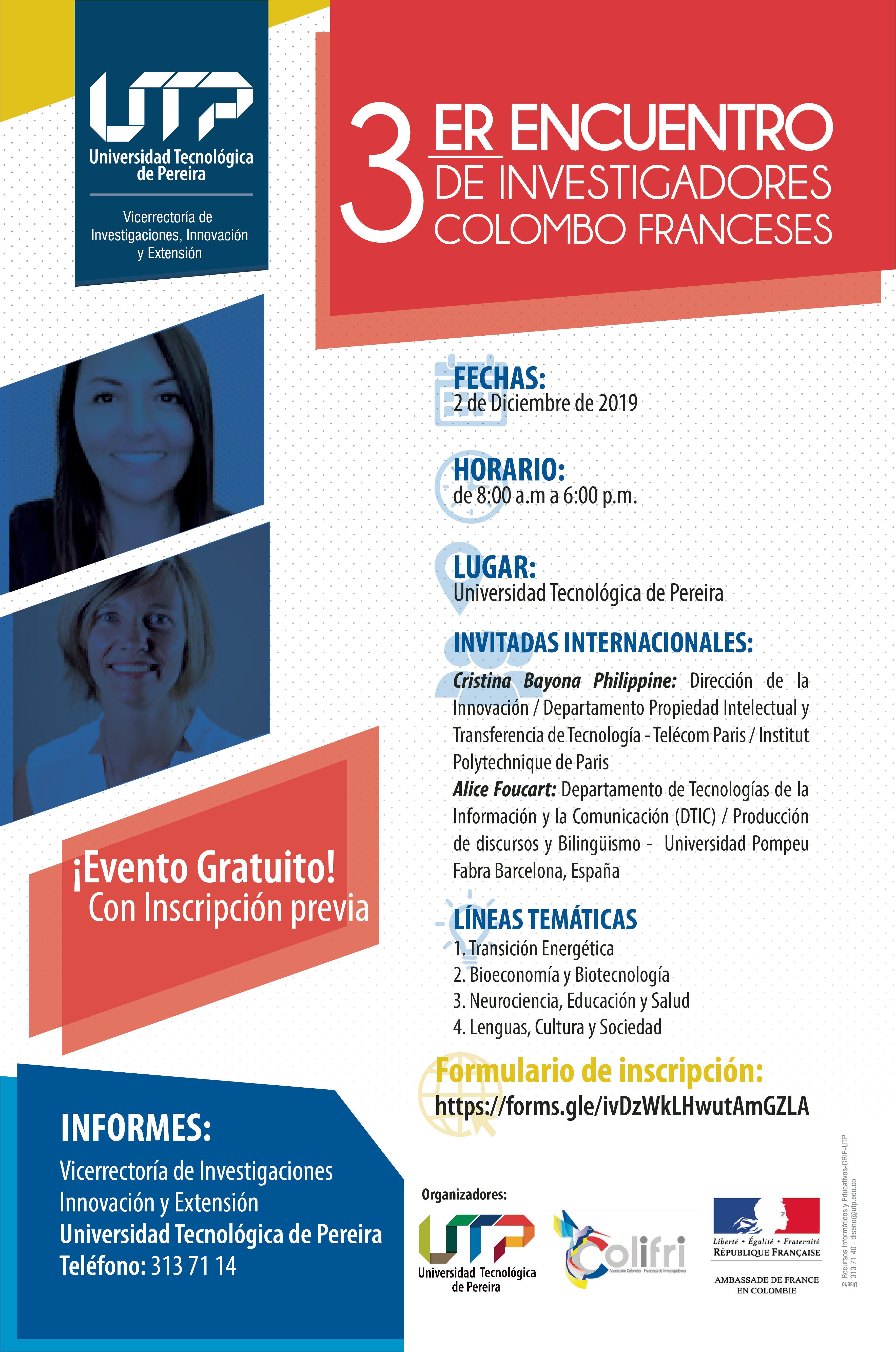 Presente su trabajo investigativo en el Tercer Encuentro de Investigadores Colombo Franceses