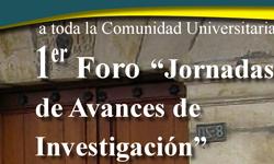 Primer foro de jornadas de avances de investigación-Alfredo Andrés Abad Torres