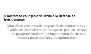 Sustentación proyecto de investigación Doctorado en Ingeniería