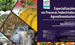 Se amplían hasta el 15 de agosto inscripciones Especialización en Procesos Industriales Agroalimentarios