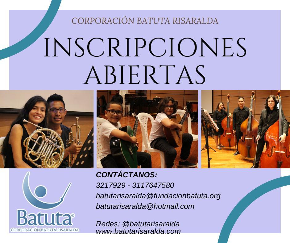 Inscripciones abiertas Batuta