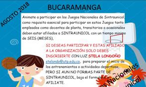 Juegos Nacionales Sintraunicol