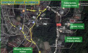 Plan de contingencia vial por obras del Túnel de la UTP