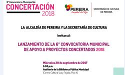 El 20 de septiembre, Cultura presentará Convocatoria de Concertación Municipal 2018