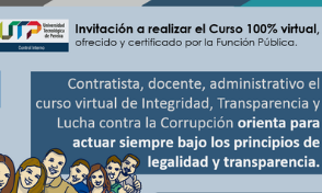 Invitación: Curso 100% virtual / Integridad, Transparencia y Lucha contra la Corrupción