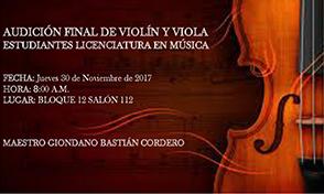Audición Final de Violín y Viola