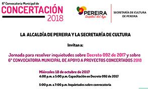 Reunión para aclarar inquietudes, Sexta Convocatoria de Concertación Municipal