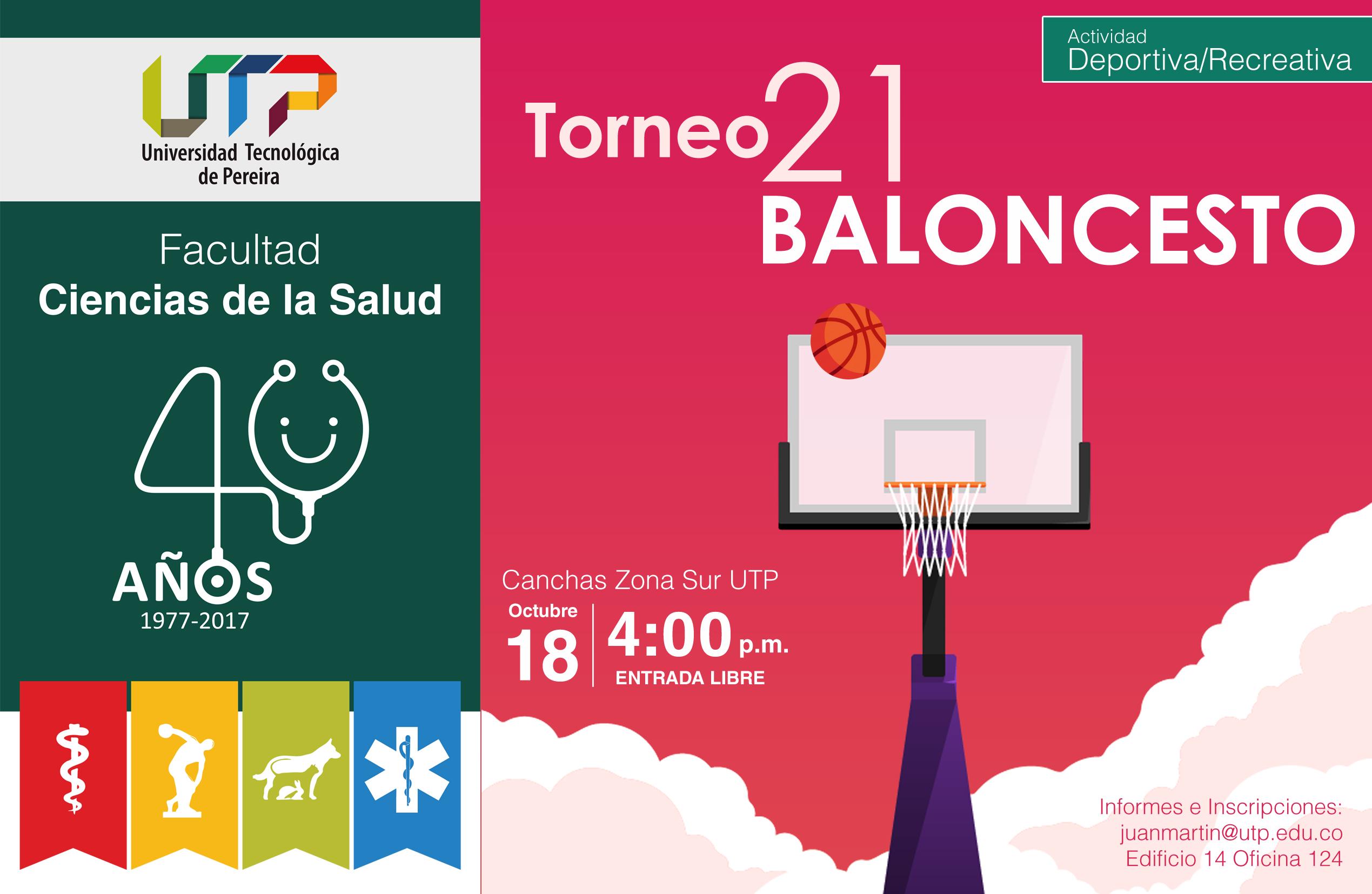 Torneo 21 baloncesto en el marco de los 40 años de la Facultad Ciencias de la Salud