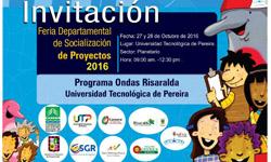 Invitación Feria departamental Programa Ondas