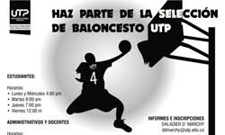 Haz  parte de la selección de baloncesto U.T.P