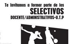 Te invitamos a formar parte de los selectivos deportivos docente/administrativos - U.T.P