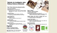 I Seminario de investigación en Políticas, Culturas e Intelectuales