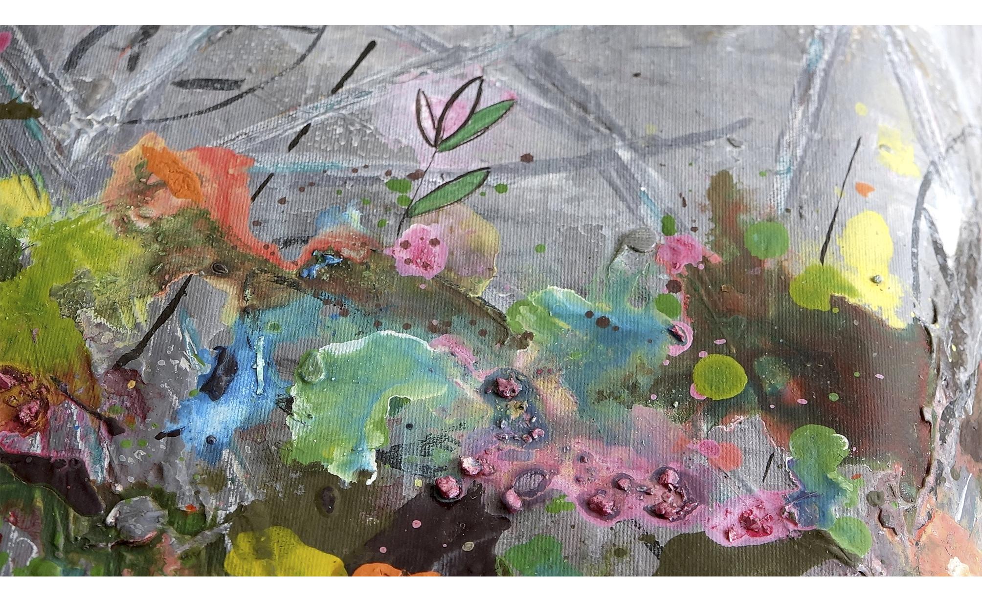"""Exposición individual de pinturas titulada """" Idilio de jardín"""""""