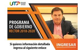 Programa de Gobierno Rector de la UTP 2018-2020
