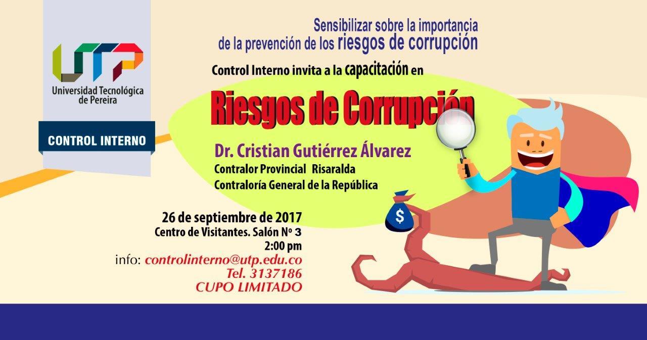Invitación a capacitación en Riesgos de Corrupción