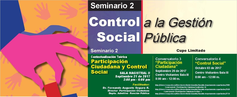 Invitación a capacitación en Control Social