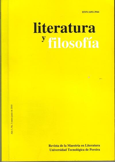 Revista Literatura y Filosofía - Año 1, N°1, enero - junio de 2003