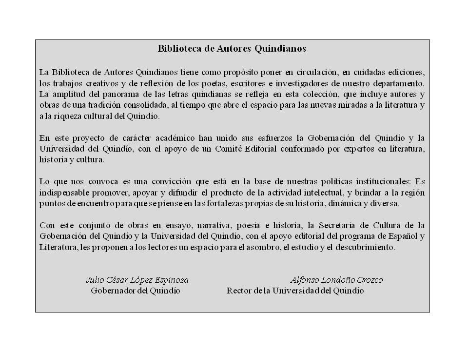 BIBLIOTECA DE AUTORES QUINDIANOS 2011 - 2012