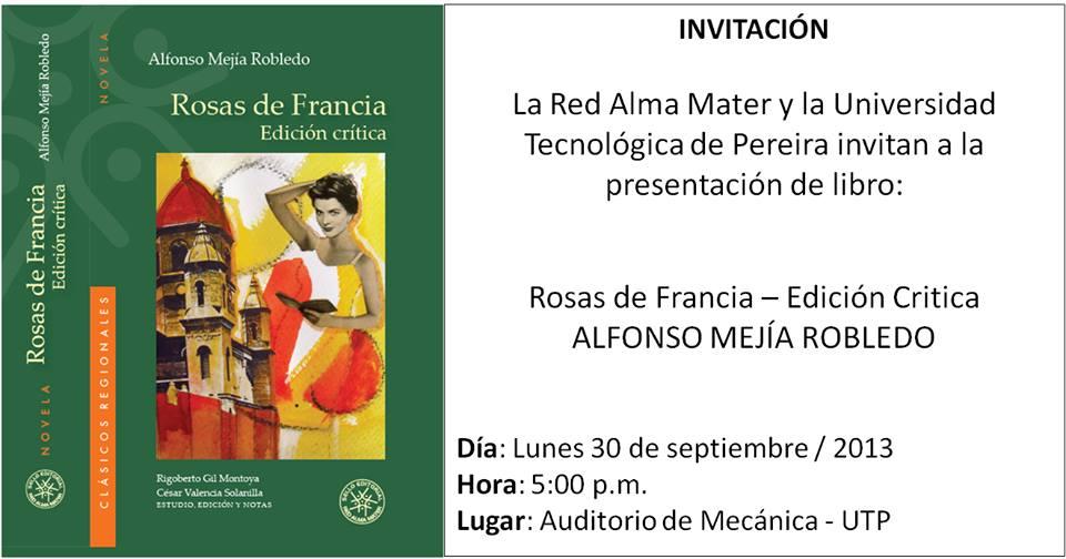 Presentación del libro Rosas de Francia
